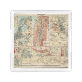 Tieflander Atlas Map Acrylic Tray