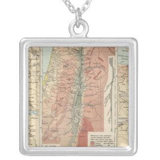 Tieflander Atlas Map Silver Plated Necklace