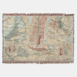 Tieflander Atlas Map Throw Blanket