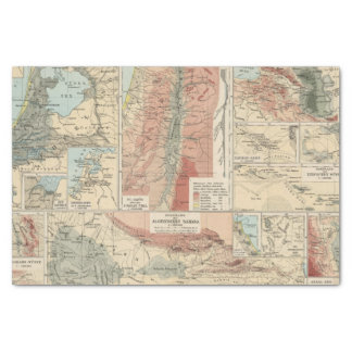 Tieflander Atlas Map Tissue Paper