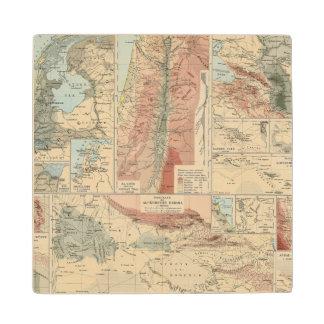 Tieflander Atlas Map Wood Coaster