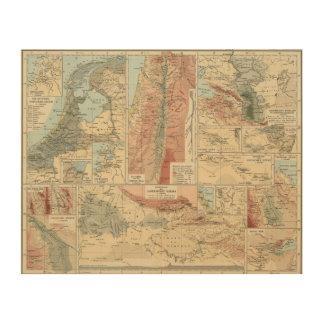 Tieflander Atlas Map Wood Wall Art