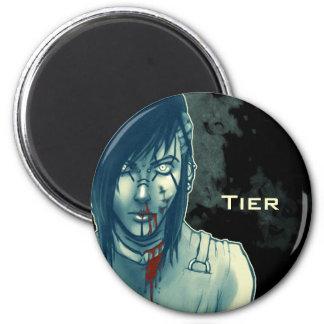 Tier StraitJacket 6 Cm Round Magnet