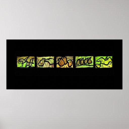 Tierce en Taille Vert Poster