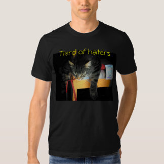 Tierd of haters Cat Tees