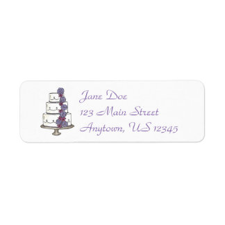 Tiered Cake Wedding Engagement Bridal Labels