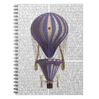 Tiered Hot Air Balloon Blue Notebook