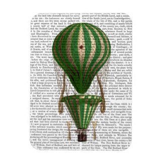 Tiered Hot Air Balloon Green Magnet