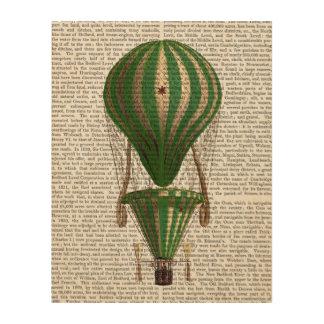 Tiered Hot Air Balloon Green Wood Wall Art