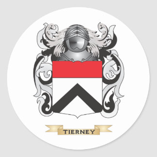 Tierney Family Crest (Coat of Arms) Round Sticker