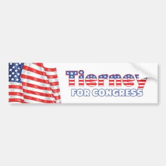 Tierney for Congress Patriotic American Flag Bumper Sticker