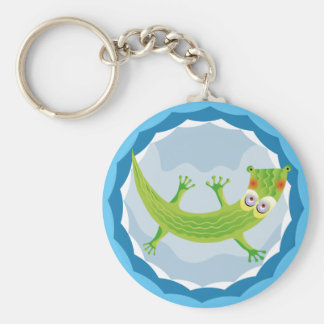 Tierno cocodrilo basic round button key ring