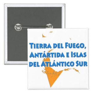 Tierra del Fuego 15 Cm Square Badge