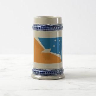 Tierra del Fuego flag Beer Steins