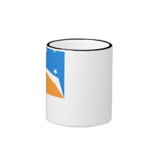 Tierra del Fuego flag Ringer Mug
