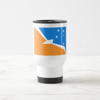 Tierra del Fuego flag Stainless Steel Travel Mug