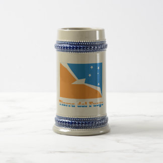 Tierra del Fuego flag with name Beer Steins