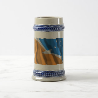 Tierra del Fuego waving flag 18 Oz Beer Stein