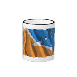 Tierra del Fuego waving flag Ringer Mug