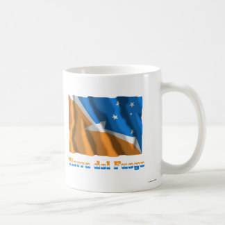 Tierra del Fuego waving flag with name Basic White Mug
