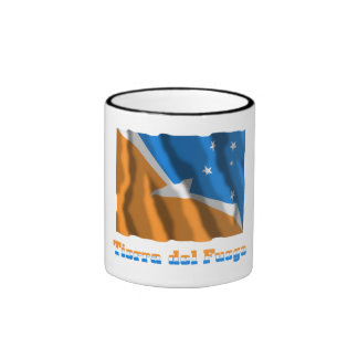 Tierra del Fuego waving flag with name Ringer Mug