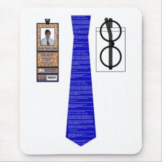 TieShirt002 - Blue Screen copy Mouse Pad