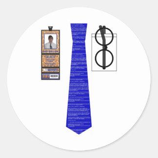 TieShirt002 - Blue Screen copy Round Sticker