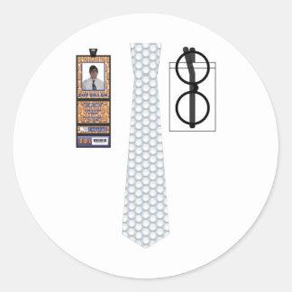 TieShirt003 - Bubble Wrap copy Round Sticker