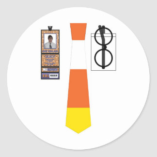 TieShirt006 - Candy Corn copy Round Sticker