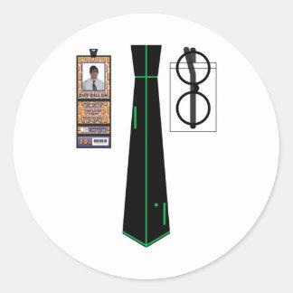 TieShirt008 - Pong copy Round Sticker