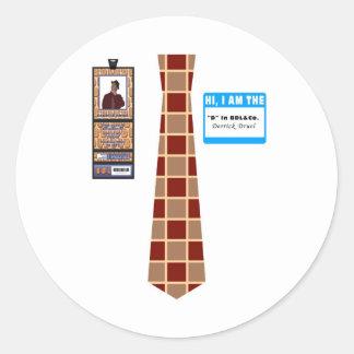 TieShirt031- Derrick Druel copy Round Sticker