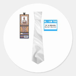 TieShirt032- Barker Blorren copy Round Sticker