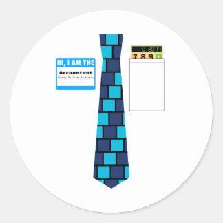 TieShirt034- Accountant copy Round Sticker