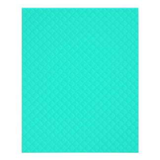 Tiffany Aqua Blue Quilted Pattern Flyers