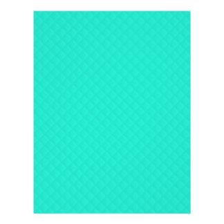 Tiffany Aqua Blue Quilted Pattern Flyer