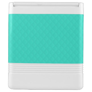 Tiffany Aqua Blue Quilted Pattern Igloo Cooler