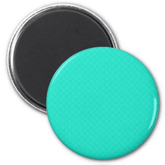 Tiffany Aqua Blue Quilted Pattern Fridge Magnets