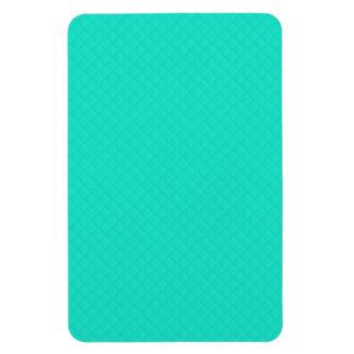 Tiffany Aqua Blue Quilted Pattern Vinyl Magnet