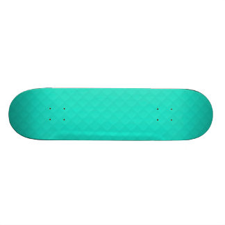 Tiffany Aqua Blue Quilted Pattern Skate Deck