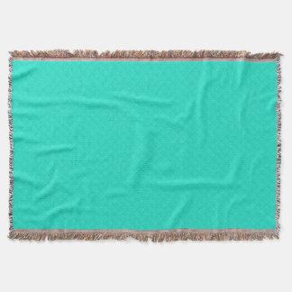 Tiffany Aqua Blue Quilted Pattern Throw Blanket