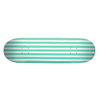 Tiffany Aqua Blue Sailor Stripes Skate Decks