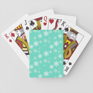 Tiffany Aqua Blue Snow Flurries Playing Cards