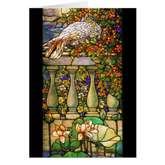 Tiffany Art Nouveau Stained Glass Card