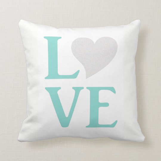 Tiffany Blue And White Wedding Love Party Pillow