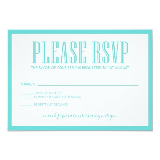 Tiffany Blue Be Married RSVP Flat Card