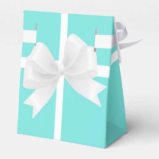 Tiffany Blue & White Bow Elegant Party Favor Boxes Favour Boxes