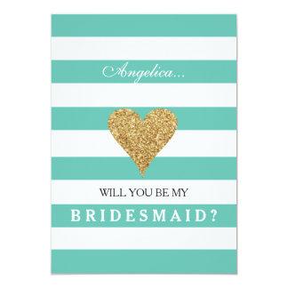 Tiffany Blue Will You Be My Bridesmaid Invitation
