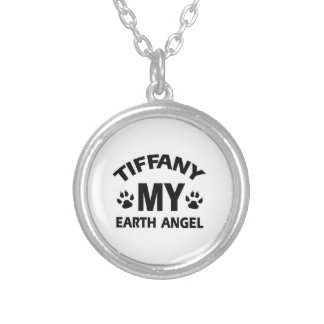 TIFFANY CAT DEsign Silver Plated Necklace