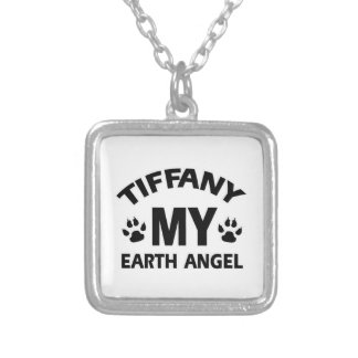 TIFFANY CAT DEsign Square Pendant Necklace