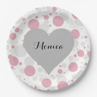 Tiffany Girl Polka Dot Party Paper Plates